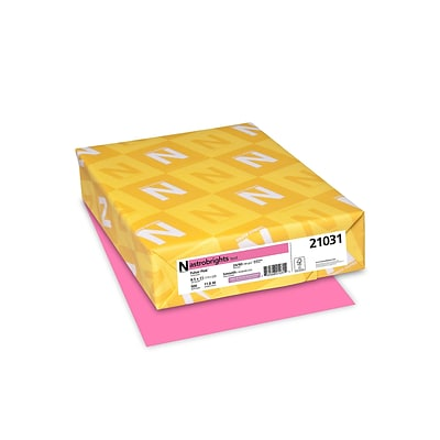 Astrobrights Multipurpose Paper, 24 lbs, 8.5 x 11, Pulsar Pink, 500/Pack (21031)