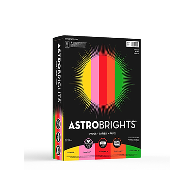 Astrobrights Vintage Multipurpose Paper, 24 lbs., 8.5 x 11, Assorted Colors, 500/Pack (21224)