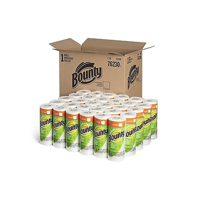 Bounty Kitchen Rolls Paper Towels, 2-Ply, 36 Sheets/Roll, 30 Rolls/Carton (76230/95028)