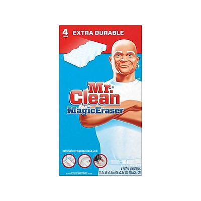 Mr. Clean Magic Eraser Extra Durable White Scrubbers, 4/Pack (82038)
