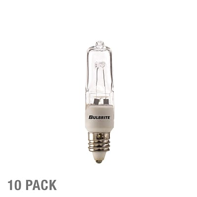Bulbrite Halogen T4 100W Dimmable Clear 2900K Soft White Light Bulb, 5 Pack (610101)