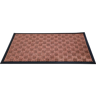 Floortex Doortex  Ribmat Heavy Duty Indoor/Outdoor Entrance Mat 24x36 Brown(FR46090FPRBR)