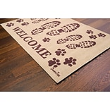 Doortex Rectangular Indoor Porch Mat, Boots Welcome 24x39 (FR4WB2439BG)