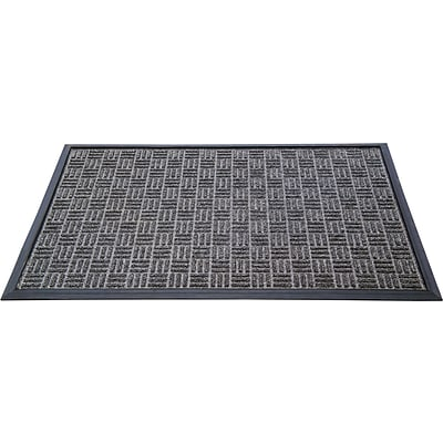 Floortex Doortex  Ribmat Heavy Duty Indoor/Outdoor Entrance Mat 24x36 Charcoal(FR46090FPRGR)