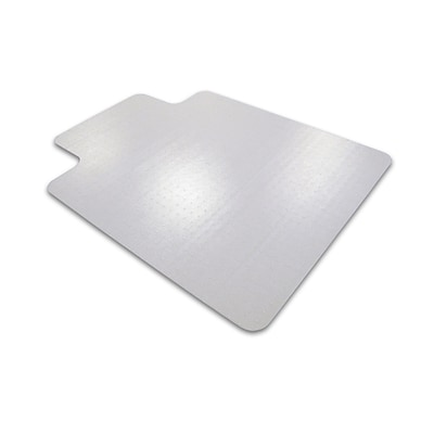 Cleartex Advantagemat PVC Clear Chair Mat for Standard Pile Carpets 3/8 or less  Rectangular with Lip  45 x 53 (11341526LV)