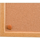 Viztex Cork Bulletin Board with an Oak Effect Frame (36x24)