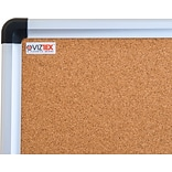 Viztex Cork Bulletin Board with an Aluminum Trim (24x18)