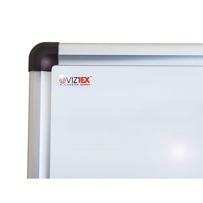 Viztex Lacquered Steel Magnetic Dry Erase Board with Aluminum Frame (48x36)