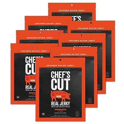 Chefs Cut, Real Bacon Jerky, Sriracha, 8 Pack, (DS1155)