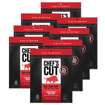 Chefs Cut, Real Steak Jerky, Original Recipe, 8 Pack, (DS1149)