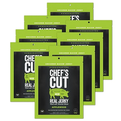 Chefs Cut, Real Bacon Jerky, Applewood Smoked, 8 Pack, (DS1154)