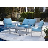 Cosco 4 Piece Blue Patio Set (88580STQTE)
