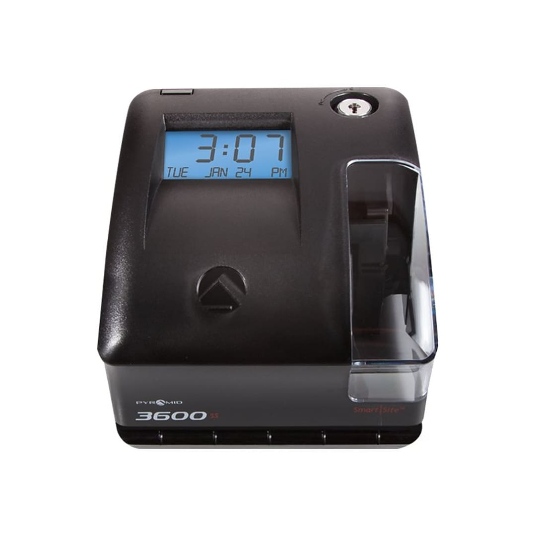Pyramid Punch Card Time Clock System, Black (3600SS)