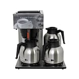 Newco 3-Station 12-Cup Automatic Coffee Maker, Silver/Black (NEWAKH3T)
