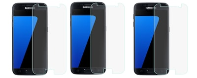 Overtime Tempered Glass Screen Protector For Samsung Galaxy S7 -Pack of 3
