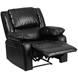 Harmony Series Black Leather Recliner [BT-70597-1-GG]