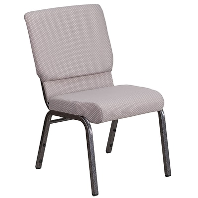 HERCULES Series 18.5W Fabric Stacking Church Chair with 4.25 Thick Seat - Vein Frame
