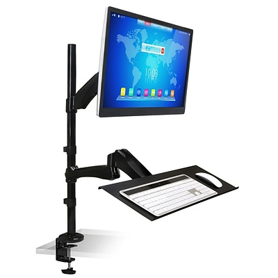 Mount-It! Standing Desk Converter, Single Monitor Mount Workstation, Height Adjustable Desk, Up to 27 (MI-7921)