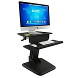 Mount-It! Sit Stand Desk Converter, Height Adjustable Standing Desk, 23.5 x 16 Stand-Up Workstatio