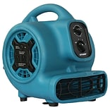 P-230AT 800cfm 3-Speed Mini Air Mover/Floor Dryer/Utility Blower Fan with Timer & Power Outlets