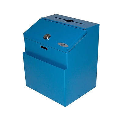 Adir Steel Suggestion Box Blue