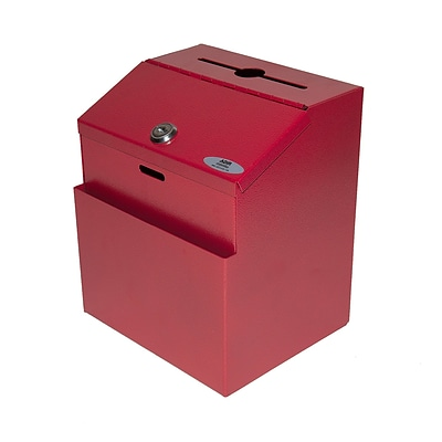 Adir Steel Suggestion Box Red