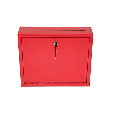 Adiroffice Red Multi Purpose Large Size Suggestion Drop Box 12 W X 3 D X 10 H
