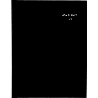 2020 AT-A-GLANCE 8 x 11 DayMinder Weekly Appointment Book/Planner, Hard Cover, Black (G520H-00-20)