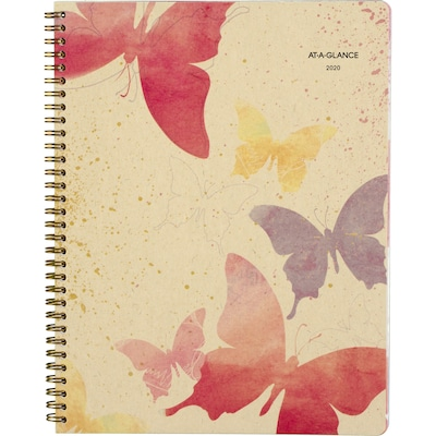 "2020 AT-A-GLANCE 8 1/2"" x 11"" Recycled  Weekly/Monthly Planner, Watercolors (791-905G-20)"