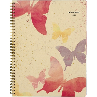 2020 AT-A-GLANCE 8 1/2 x 11 Recycled  Weekly/Monthly Planner, Watercolors (791-905G-20)