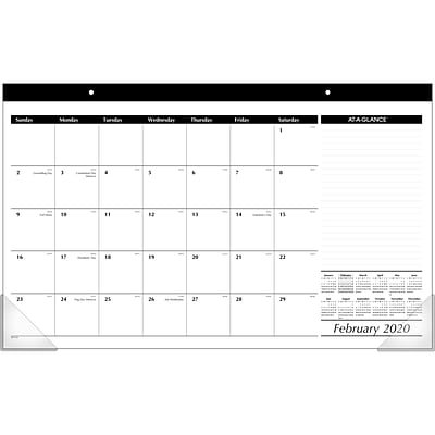 2020 AT-A-GLANCE 18 x 11 Compact Desk Pad (SK14-00-20)