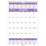 2020 AT-A-GLANCE 15 1/2 x 22 3/4 3-Month Wall Calendar (PM6-28-20)