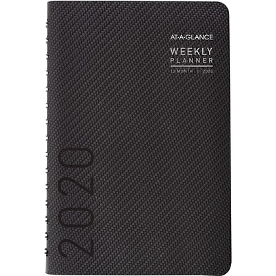 2020 AT-A-GLANCE 5-1/2 x 8-1/2 Weekly/Monthly Planner Contemporary, Graphite (70-100X-45-20)