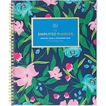 2020 Simplified 8-1/2 x 11 Customizable Weekly/Monthly Planner, Navy Floral (EL300-901-20)