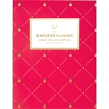 2020 8-1/2 x 11 Monthly Planner, Simplified Pink Pineapple by Emily Ley (EL300-091-20)