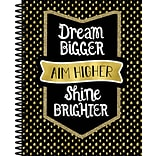 Sparkle and Shine Teacher Planner Plan Book, Dream Bigger Aim Higher Shine Brighter, Paperback (1050