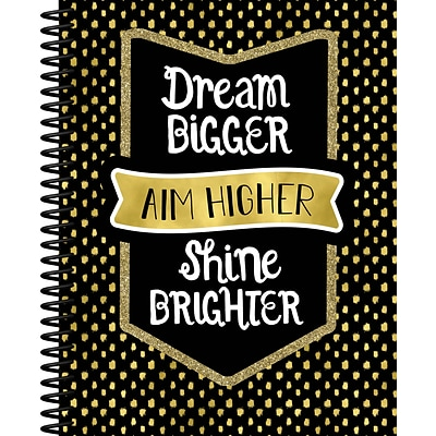 Sparkle and Shine Teacher Planner Plan Book, Dream Bigger Aim Higher Shine Brighter, Paperback (105020)
