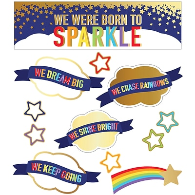 Carson-Dellosa Sparkle and Shine We Were Born to Sparkle Mini Bulletin Board Set (110433)