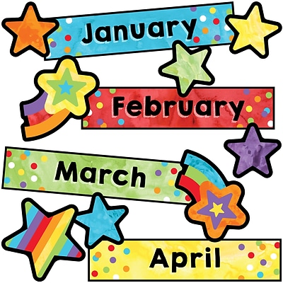 Carson-Dellosa Celebrate Learning Months of the Year Mini Bulletin Board Set (110452)