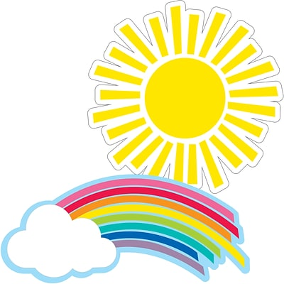 Schoolgirl Style Hello Sunshine Rainbows & Suns Cut-Outs (120558)