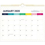 2020 Simplified 15 x 12 Monthly Wall Calendar, Gold Dot (EL300-707-20)