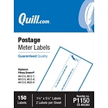 Quill Brand® Postage Meter Self-Adhesive Labels, 1-1/2 x 5-1/2, White, 2 Labels/Sheet, 75 Sheets/P
