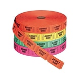 PM Company Numbered Single Event Tickets, 2000/Roll, 4 Rolls/Pack (PMC59002)