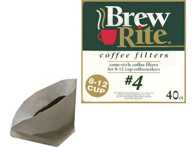 Brew Rite White Paper Filters, 40/Pack (ROC46041)