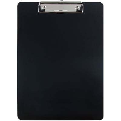 JAM Paper® Aluminum Clipboard, 9 x 13, Black, Sold Individually (331ALCbl)