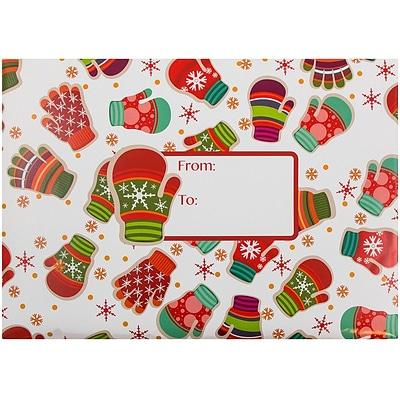 JAM Paper® Holiday Bubble Padded Mailers, Small, 6 x 10, Holiday Mittens Design, 6/Pack (526SSDE524S)