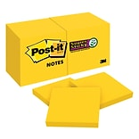 Post-it(R) Super Sticky Notes 12 pk, Bright Yellow
