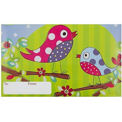 JAM Paper® Bubble Mailers, Medium, 8.5 x 12.25, Songbirds Design, 6/pack (526SSDE263M)