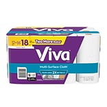 Viva Multi-Surface Cloth Choose-A-Sheet Paper Towels, Cloth-Like Kitchen Paper Towels, White, 12 Big