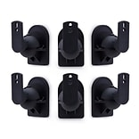Mount-It! Low Profile Universal Speaker Mounts, 6 Pack (MI-SB296)